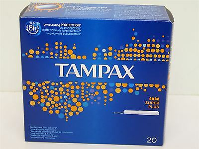 Tampax Super Plus for Heavy Flow 4 x 20pk Tampons Up To 8Hrs Use *80 TAMPONS*