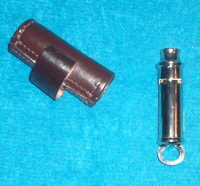 Ww1-Ww2 Officers Whistle Leather Holder - New Made Reproduction