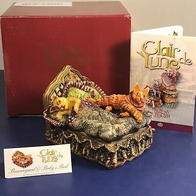 Harmony Kingdom Original Box Figurine Clair De Lune Beauregard Babys Bed Cats Uk