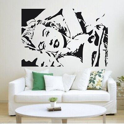 Big Marilyn Monroe Sexy Wall Decal Stickers Decor Easy Removable Sticker