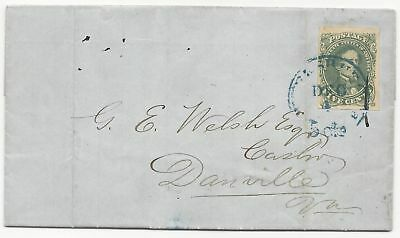CSA Scott #1 Stone 1 on Cover Blue Petersburg, VA CDS December 1, 1861 Letter