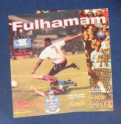 Fulham Home Programmes 1994-1995