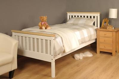 Single Bed In White Pine 3ft Single Bed Wooden Frame White Pine