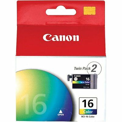 Lot of 4 Canon BCI-16 Color Ink Cartridges GENUINE NEW!