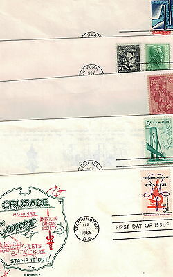 #1258, 1263, 1268, 1282, 1312 1964-66 Five different FDC