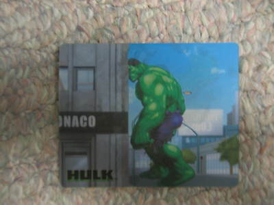 2003 Taco Bell Universal Marvel Incredible Hulk Movie Hologram Trading Card #3