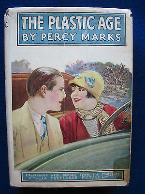 THE PLASTIC AGE Vintage Illustrated Photpplay of CLARA BOW Silent Film