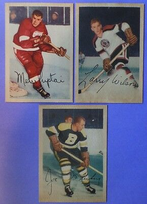 LOT OF 3 DIFFERENT 1953-54 PARKHURST HOCKEY CARDS NICE!