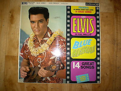Elvis Record LP Blue Hawaii Mono RD-27238 (LPM-2426) Red Spot
