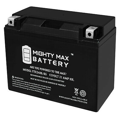 Mighty Max Y50-N18L-A3 Battery for Yamaha XV1100 Virago 1998 12V 4Amp Charger