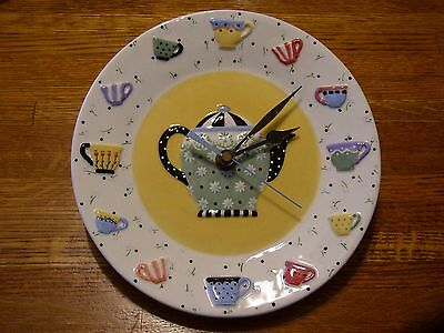 MARY ENGELBREIT Pottery Plate Ceramic TEAPOT Cup CLOCK Tea Room Kitchen Decor