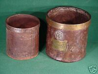 Set Dutch Cans Tins Antique Brass Copper Measuring Marked Metal Holland Old Pair