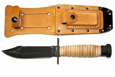6150 ONTARIO 499 AIR FORCE SURVIVAL KNIFE USA PILOTS FIXED BLADE LEATHER SHEATH