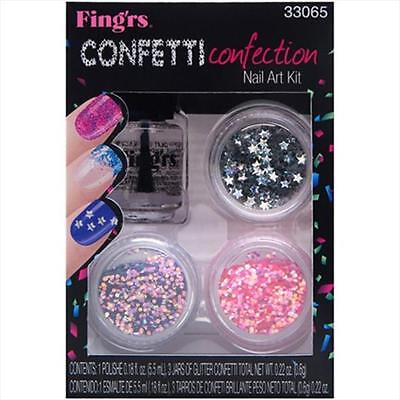 Fingrs Heart 2-Art Nail Kits Confetti Connection, Pack Of 2