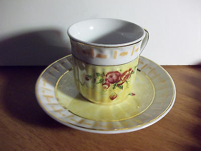 Demitasse Cup & Saucer Made In China-WHITE,YELLOWS,RED