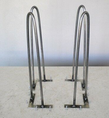 """4 Hairpin Metal Legs Professionally Made For Eames Time Era 14"""" high- 5/16"""" dia."""