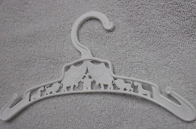 Elephan And Circus Images  White Plastic Child's Plastic Clothing Hanger