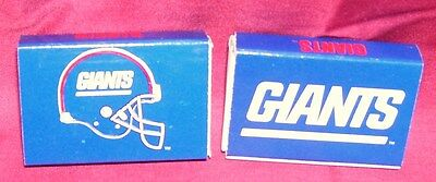 NEW YORK GIANTS--2 BOXES OF MATCHES--NFL--L@@K