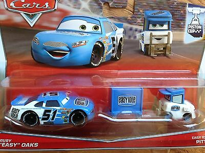 DISNEY/PIXAR CARS PISTON CUP RUBY EASY OAKS and EASY IDLE PITTY