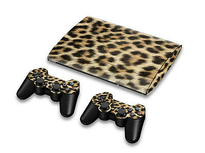 Latest Leopard Skin Vinyl Sticker Decal For PS3 Super Slim 4000+2 Controllers