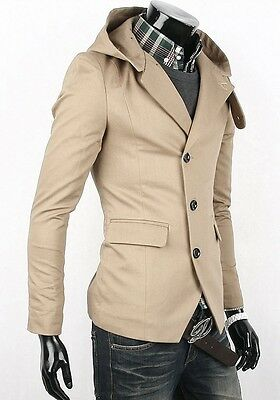 New Mens Casual TOP Design Sexy Slim FIT Blazers Coats 3 button Suit Jackets