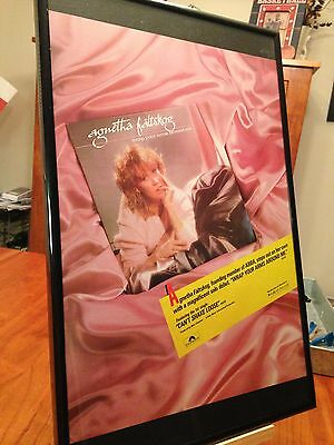 "Big 11X17 Framed Agnetha Faltskog ""wrap Your Arms Around Me Lp Album Cd Promo Ad"