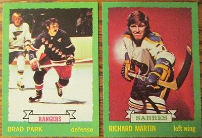 LOT OF 10 DIFFERENT HIGH GRADE 1973-74 O-Pee-Chee HOCKEY CARDS with STARS OPC