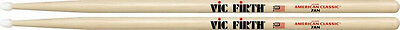 VIC FIRTH HICKORY AMERICAN CLASSIC 7AN DRUM STICKS  NYLON TIP  2  PACK