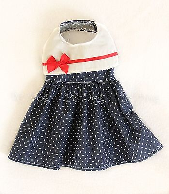 S New Sailor Girl Dog dress clothes pet apparel Clothing Small PC Dog®