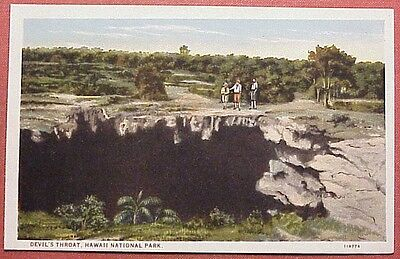 1920's Devil's Throat Hawaii National Park Moses Stationery