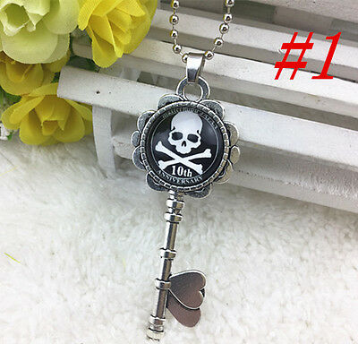 HOT cool skull Silver Plated CHAIN NECKLACE  Alloy  & Pendants #75