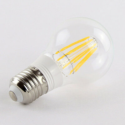 E27 8W Warm White Retro Filament LED Bulb Light Lamp 85-265V AC
