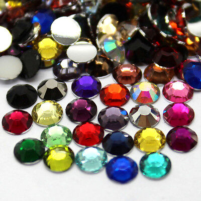 Wholesale 5000pcs 5mm 14 Facets Resin Flatback Rhinestones Mixed Color Crystal