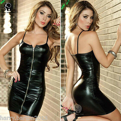 Fashion Women Sexy Prom Evening Dress Chemise Party Mini Clubwear UM011 Black