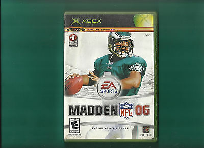 XBOX Madden NFL 06 2006 Football With Manual Live Online Enabled EA Sports
