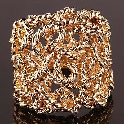 Charming Woman Man 14k Gold Filled US size 9 Hollow out Ring Jewelry C133