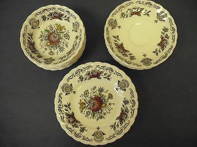 Lot of Myotts Bouquet Staffordshire, England Plates/Bowls - 18 pieces