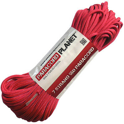 Hot Pink 550 Paracord Mil Spec Type III 7 Strand Parachute Cord 100 ft