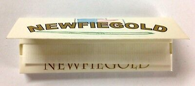 25 Booklets Of 50 Newfiegold Rolling Papers 1250 Sheets