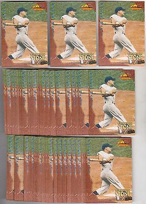 Lot of 50 1994 Ted Williams Roger Maris Etched In Stone #ES4 Insert Cards
