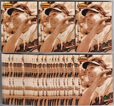 Lot of 50 1993 Ted Williams Company BROOKS ROBINSON Collection #BR3 Insert Cards