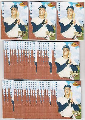 Lot of 50 1994 Ted Williams Roger Maris Etched In Stone #ES8 Insert Cards