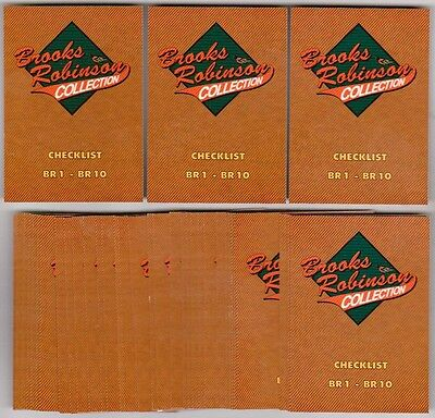 Lot of 50 1993 Ted Williams Company BROOKS ROBINSON Collection BR10 Insert Cards