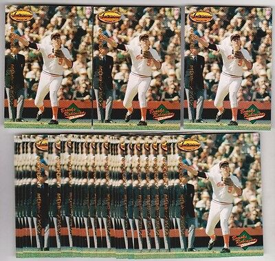 Lot of 50 1993 Ted Williams Company BROOKS ROBINSON Collection #BR4 Insert Cards