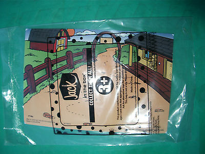TOY KIDS MEAL JACK IN THE BOX Fast Food Farm Scene With Animal Stickers Sealed