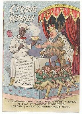 Vintage CREAM OF WHEAT AD Old King Cole