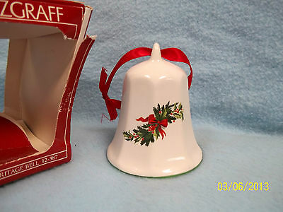 Pfaltzgraff Christmas Heritage Bell 1991 ~ Gorgeous! Must See! LQQK here