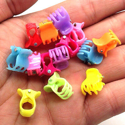 NEW Free shipping 30pcs Fashion Mixed colors Plastic Hair Clip Clamp C9