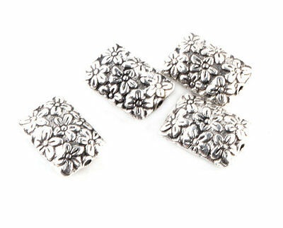 Free Shipping 10 Pcs Tibetan silver Crafts flowers Findings Spacer beads TA2015