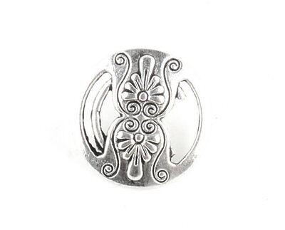 Free Shipping 10 Pcs Tibetan Silver Crafts Buttons Charms Findings Buttons TA575